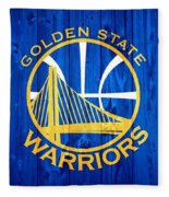 Golden State Warriors Door Fleece Blanket