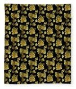 Golden Tropics Pattern Fleece Blanket