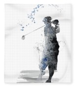 Golfer Fleece Blanket