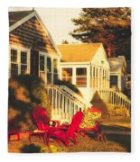 Goose Creek Beach Cottages Fleece Blanket