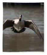 Goose In Flight Fleece Blanket
