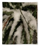 Grass In Snow 2 Fleece Blanket