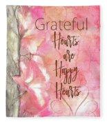 Grateful Hearts Fleece Blanket