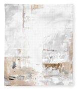 Gray Brown Abstract 12m3 Fleece Blanket