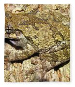 Gray Tree Frog Fleece Blanket