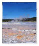 Great Fountain Geyser In Yellowstone National Park Fleece Blanket