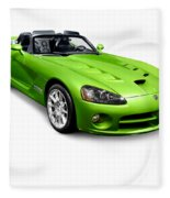 Green 2008 Dodge Viper Srt10 Roadster Fleece Blanket