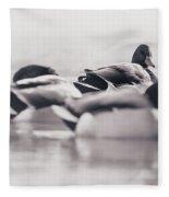 Group Of Ducks Fleece Blanket