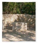 Groupo Mecanxoc At The Coba Ruins  Fleece Blanket