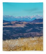 Grouse Mountain And Sangre De Cristo Fleece Blanket