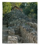 Grupo Coba At The Coba Ruins  Fleece Blanket