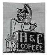 H C Coffee Fleece Blanket