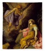 Hagar And The Angel Fleece Blanket