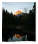 Half Dome Sunset Fleece Blanket