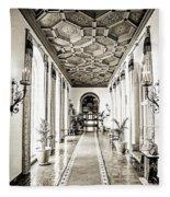 Hallway Of Elegance Fleece Blanket
