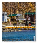 Hammondsport Docks Fleece Blanket