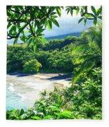 Hamoa Beach Hana Maui Hawaii Fleece Blanket