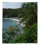 Hamoa Beach Maui Hawaii Fleece Blanket