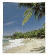 Hana Coast, Hamoa Beach Fleece Blanket