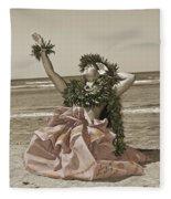 Hand Colored Hula Fleece Blanket