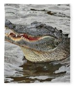 Happy Florida Gator Fleece Blanket