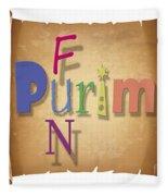 Happy Joyous Purim  Fleece Blanket