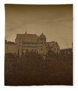 Harburg Castle - Digital Fleece Blanket