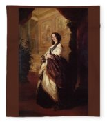 Harriet Howard Duchess Of Sutherland Franz Xavier Winterhalter Fleece Blanket