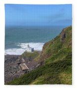 Hartland Point - England Fleece Blanket