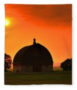 Harvest Sunset  Fleece Blanket