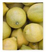Harvested Lemons Fleece Blanket