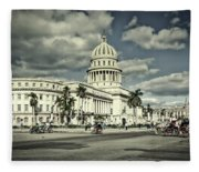 Havana National Capitol Fleece Blanket