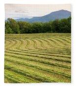Hayfield Landscape Fleece Blanket
