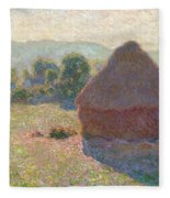 Haystacks, Midday Fleece Blanket