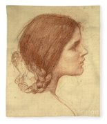 Head Of A Girl Fleece Blanket