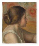 Head Of A Young Girl Fleece Blanket