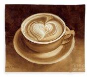 Heart Latte II Fleece Blanket
