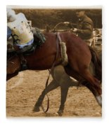 Helluva Rodeo-the Ride 6 Fleece Blanket