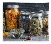 Herbs In Jars Fleece Blanket