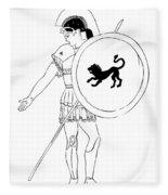 hero - warrior of ancient Greece Fleece Blanket