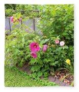 Hibiscus In The Garden Fleece Blanket