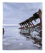 The Peter Iredale Wreck, Cannon Beach, Oregon Fleece Blanket