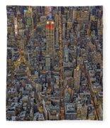 High Over Manhattan Fleece Blanket
