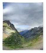 Highline Trail Overlooking Going To The Sun Road - Glacier National Park Fleece Blanket