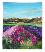 Highway 246 Flowers 3 Fleece Blanket