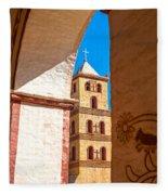 Historic Stone Bell Tower Fleece Blanket
