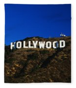 Hollywood Sign Los Angeles Ca Fleece Blanket