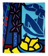Homage To Matisse I Fleece Blanket