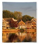 Homes On Kennebunkport Harbor Fleece Blanket