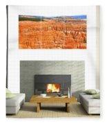 Hoodoos Of Bryce Canyon Fleece Blanket